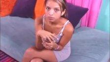 Cute Latina topless handjob