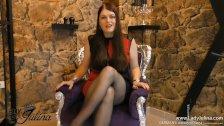 Sklavenerziehung Nylonfetisch High Heels Lady Worship