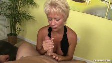 Dominant lady handjob