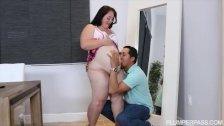 Pregnant BBW Vanessa London Fucks Hubbys Best Friend