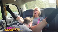 Female Fake Taxi Lost busty cabbie fucks lucky guy and swallows his load