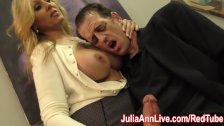 Sexy Milf Julia Ann Milks Him on Date Night!