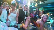Superb horny brides suck big cocks in public