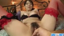 Yui Hatano feels big cock smashing her furry cunt