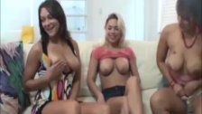 Masturbating in front of three hotties