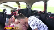 Female Fake Taxi Busty blonde fucked and facialised by studs big cock