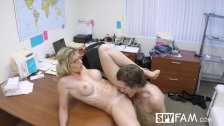 SpyFam Step son office anal fuck with step mom Cory Chase at work - duration 18:44