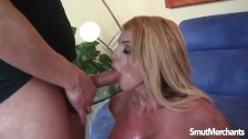 Sexy blonde MILF lets a guy fuck her