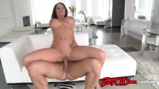 Busty Brunette Kerry Louise gets fucked and takes cumshot