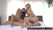 NubileFilms - Passionate Threeway Makes BFF Squirt