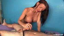 Naughty masseuse handjob