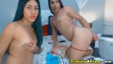 Two Amazing Tranny Having a Nice Show