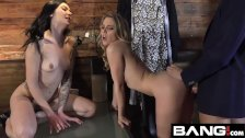 BANG Confessions: Aubrey Sinclair Threesome Fuck in Dressing Room - duration 11:48