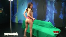 Beautiful skinny babe takes it up the ass German Goo Girls