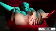 Leya shoots gummy worms out of her ass then swallows them