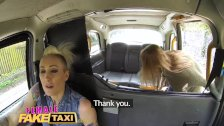 Female Fake Taxi Pretty blonde MMA babe gets pussy tribbing on taxi roof preview