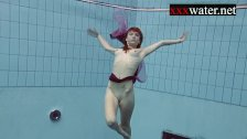 Smoking hot Russian redhead Ala in the pool - duration 7:39