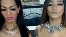 Two Hot Asian Shemale Duo Loves Anal Fuck
