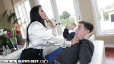 MommyBlowsBest Latina Stepmom Throats Son
