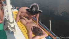 Naughty pirate girls finger each other's love tunnels