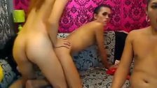 Horny Shemale Trio Ass Fucking Each Other