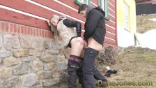 Dane Jones Deepthroat blowjob public doggystyle and facial for blonde babe