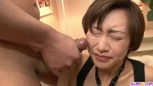 Akina Hara sucks on several dicks in a series of sloppy oral scenes - duration 12:04