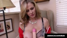 World Famous MILF, Julia Ann In A Sweater & FUCKS Herself!