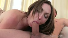 MOM Big tits brunette Aussie Milf takes big cock before squirting orgasm - duration 15:09