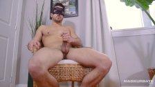 Maskurbate Straight Zack Teases Hot Cock