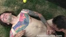 deepthroat with ball worship - duration 5:17