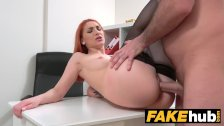 Fake Agent Horny Redhead prefers hard cock over wet pussy - duration 12:43
