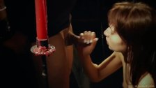Whispers of pain in hardcore bdsm and bondage teen slave licking cum