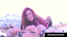 Hot Wife ShandaFay StrapOn Fucks Monica Milf in the Rockies!