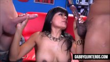 Mexican Slut Maid Gabby Quinteros Gets Double Teamed
