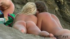 Sexy nudist babes at the beach