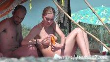 Sexy beach nudist babes
