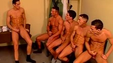 Dirty police officers all out gay orgy