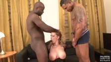 Ass Hole Too Small For Two Black Cocks Craving Double Anal Penetration