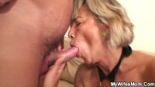 Girlfriends hot mom agrees riding his horny dick