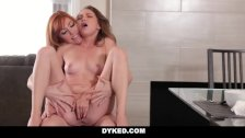 Dyked - Horny Stepmom seduces young Daughter