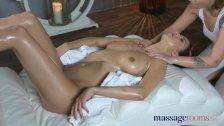 Massage Rooms Sensual intense orgasms for hot natural tits lesbians