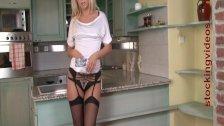 StockingVideos - Black Stockings, Black panties