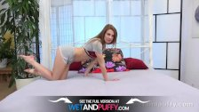 Wetandpuffy - Gorgeous Melissa Benz gapes her pussy apart before toy play