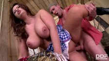 Busty Country girl Sirale rides cock like a Pro rodeo Queen