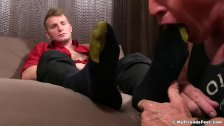 Sexy Jake and hot Dev toe sucking time