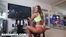 BANGBROS Video Gamer Chick August Ames Takes A Monster Fucking!