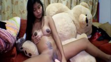 16 week pregnant thai teen heather deep dido creamy squirt alone - duration 14:52