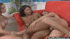 RealBlackExposed - She licks the cum off her black friends big booty