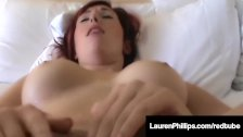 Ginger Hottie Lauren Phillips Creams On Lucky Guy's Face!